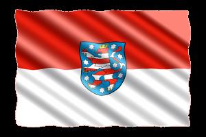 Flagge von Thürigen
